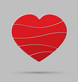 element red heart pieces puzzle symbol love vector image vector image