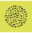 environment icons in circle vector image vector image