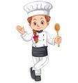 Female chef in uniform vector image vector image