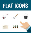 flat icon dacha set of wooden barrier grass vector image vector image