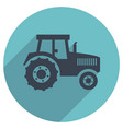 flat icon of a tractor vector image vector image