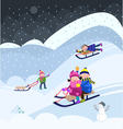 Fun On Snow vector image vector image