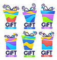 gift for you abstract present box for your vector image