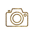 golden glitter colorful camera line icon vector image