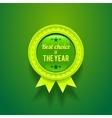 Green Glossy Badge vector image