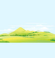 green meadows and hills summer landscape vector image