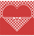 Greeting card with dotted heart vector image vector image