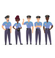 group police officers people man and woman vector image