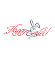 Happy Easter inscription vector image vector image