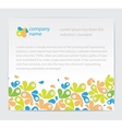 Invitation card with abstractions vector image vector image