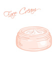 isolated cream jar vector image vector image