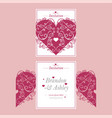 laser cutout of wedding invitation or greeting vector image vector image