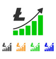 litecoin growth trend icon vector image vector image