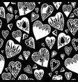 love pattern with hand drawn doodle hearts vector image vector image