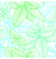 mint seamless pattern vector image vector image