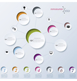 Modern abstract design infographic vector image