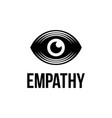 modern professional logo eye empathy on vector image vector image