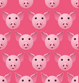 new year 2019 pig seamless pattern vector image