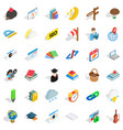 number icons set isometric style vector image vector image