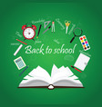 open book with back to school creative design vector image