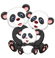 Panda bear family cartoon vector image vector image