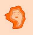 paper cut floral woman face vector image