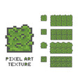 pixel art 8 bit game sprite green vector image