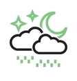 Rainy cloud with moon vector image vector image