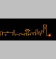 riyadh light streak skyline vector image vector image