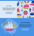 sea travel concept banner templates with place vector image vector image