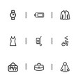set of 9 editable business icons includes symbols vector image vector image