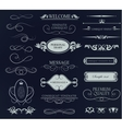 Set of calligraphic elements for design vector image