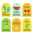 set of summer tags vector image