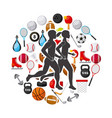 sports lifestyle design vector image vector image