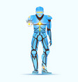 stylish cyborg man humanoid robot with artificial vector image