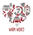 sweaters and scarf hats and socks christmas vector image