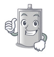 thumbs up bag packaging snack on a mascot vector image