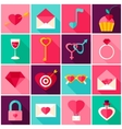 Valentines Day Colorful Icons vector image