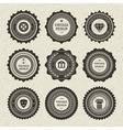 Vintage style retro emblem vector image vector image