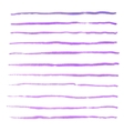 Watercolor stripes strokes purple brushes