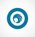 Beauty girl face bold blue border circle icon vector image
