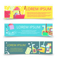 cleaning service banners template vector image