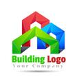 Commercial building Volume Logo Colorful 3d Design vector image