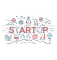 startup ideas and new business development vector image