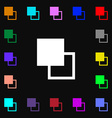 Active color toolbar icon sign Lots of colorful vector image vector image