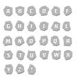 Alphabet unusual steel vector image