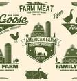 american farm seamless pattern vector image vector image