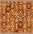 animals seamless pattern cute cartoon style vector image
