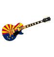 arizona flag guitar vector image vector image