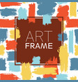 art frame square blue yellow red color elements vector image